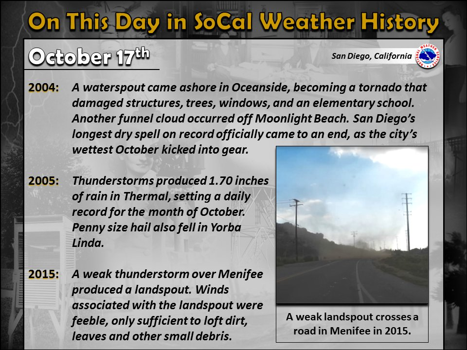 SoCal weather - This Day in History. #cawx
