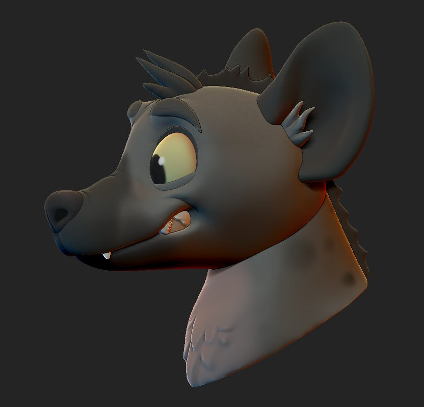 Did some character #zbrush sculpt practice on livestream today! Suggestion of Yeen character by @ashlee__ortiz 💞 Ill do a turntable in the morning when Im more awake, thanks for everyone who joined the livestream<3 🌟 I might add him to @BillieBustUp if I find a place for him