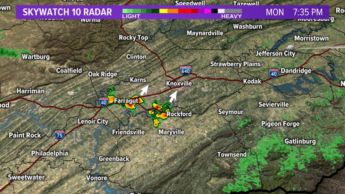 Wbir Weather On Twitter Radar Update 7 30 Pm Spotty Showers