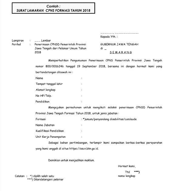 Bkd Provjateng Jatenggayeng On Twitter Surat Lamaran