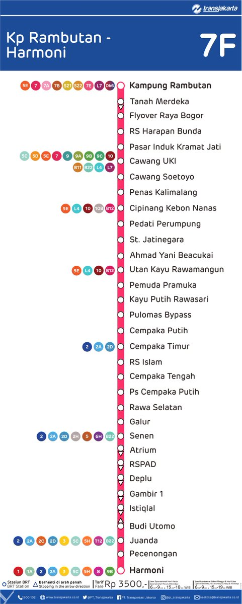 Transportasi Jakarta On Twitter Rute Transjakarta 7f Kp Rambutan