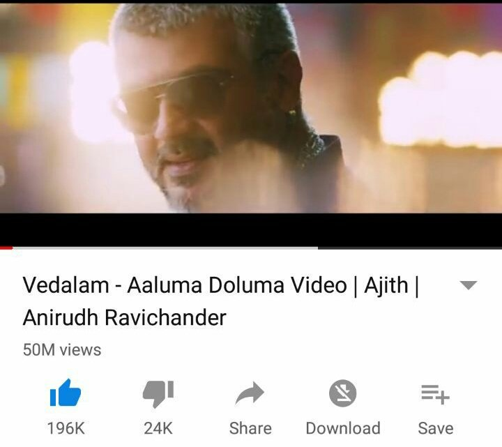 #5CroreViewsForAalumaDoluma  The song of the decade from #Thala #Ajith - @anirudhofficial reaches 5 Cr / 50 M views on YT..   Most referenced in Movies..  Most Popular in any concerts/college culturals..  The frenzy it created on-screen is unbelievable!   https://www.youtube.com/watch?v=2ogKpj5QuSY…