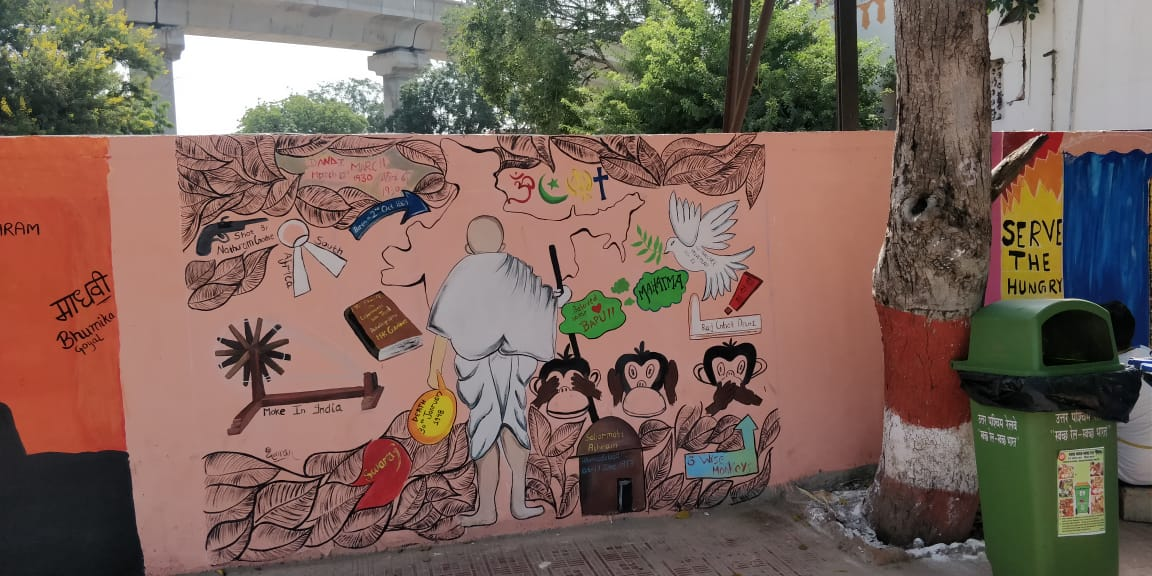 Drm Jaipur On Twitter Gandhijayanti Thematic Wall Painting Of
