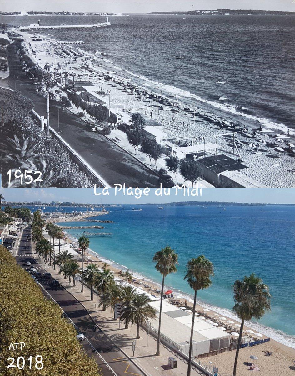 On trouve encore de vieilles cartes postales au #MarchéForville @villecannes ... photos des années 50... La Plage du Midi en 1952... il y a 66 ans ... et du Square Mistral  des années 40 ... photo prise de la tour du #MuséeDeLaCastre #Suquet #cannes ... #CotedAzurFrance