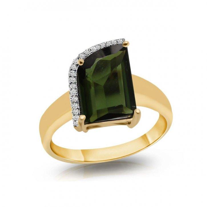 Кольцо из желтого золота с бриллиантом 0,43 карат
