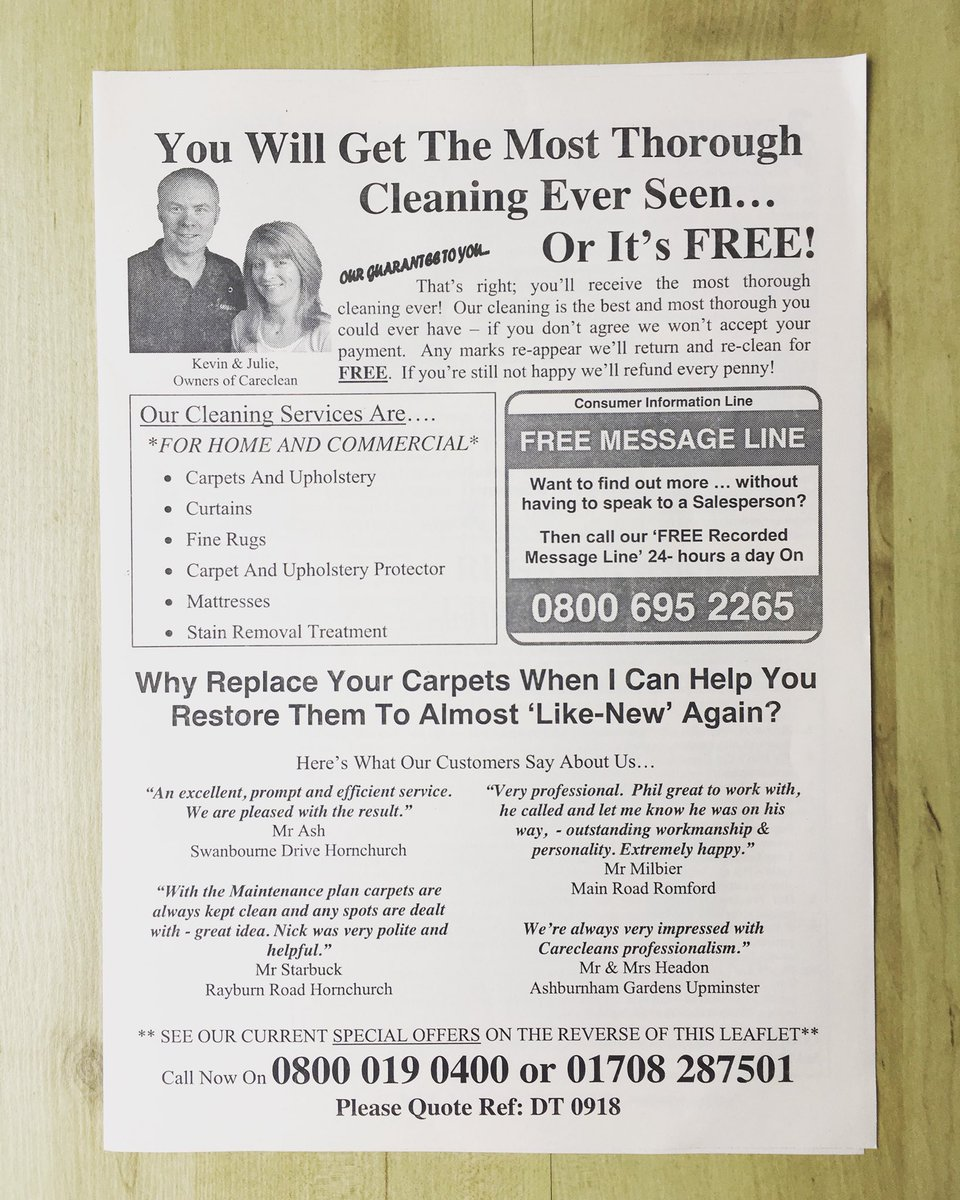 carecleanessexs campaign continues this week have you had your leaflet yet there are