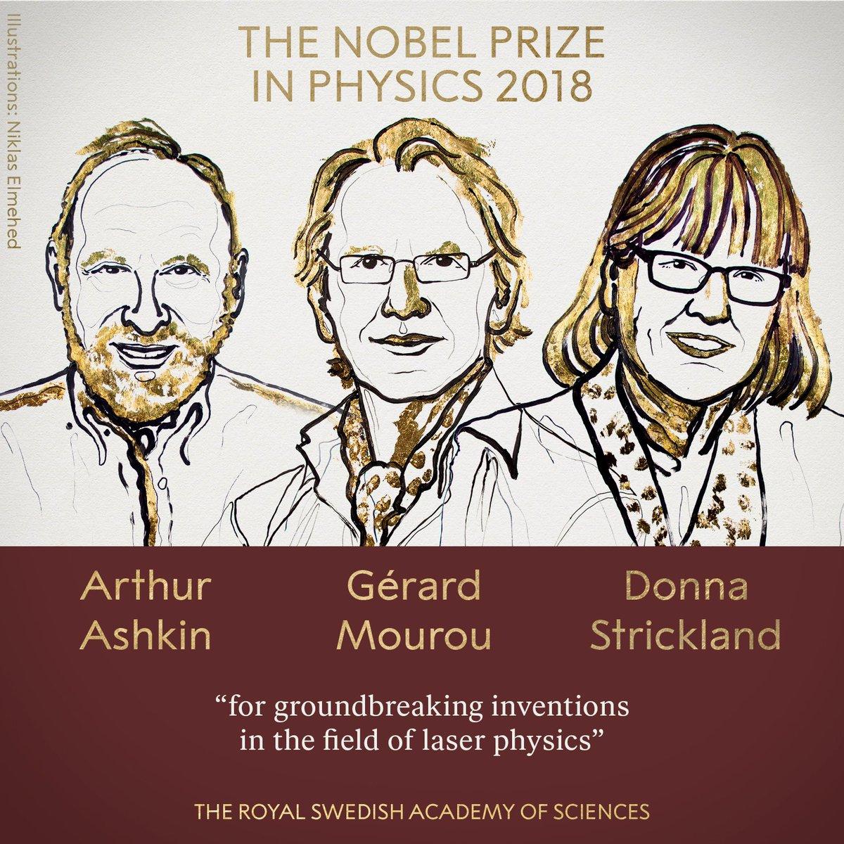 Нобелівську премію-2018 з фізики отримали досягнення в області лазерної фізики