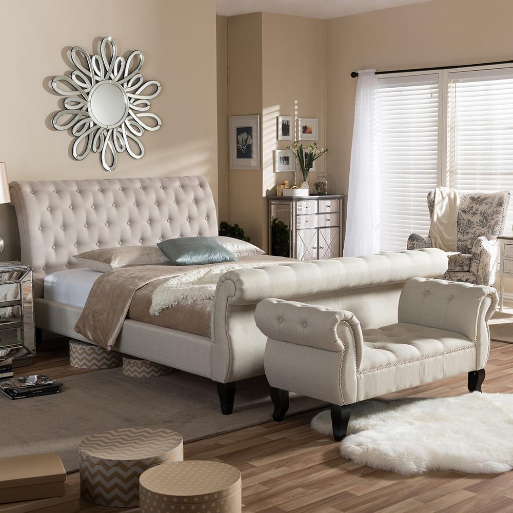 Baxton Studio Arran 2 Piece Beige King Bedroom Set 5202: Sleeptight Beds (@Sleeptight_Beds)