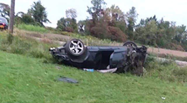 Neighbors say rollover accident in Cayuga County led to police search lasting into night