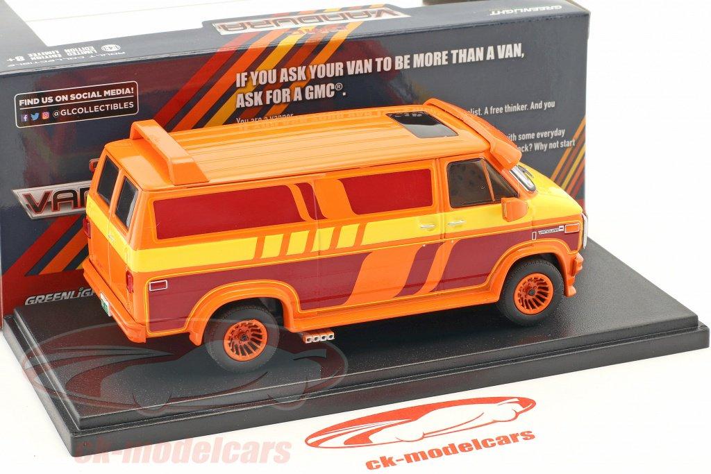 GMC Vandura Custom Van 1983 orange Modellauto 1:43 Greenlight Collectibles