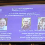 Nobel Prize in physics awarded for 'tools made of light'; first woman in 55 years honored https://t.co/1ZhTQRexew
