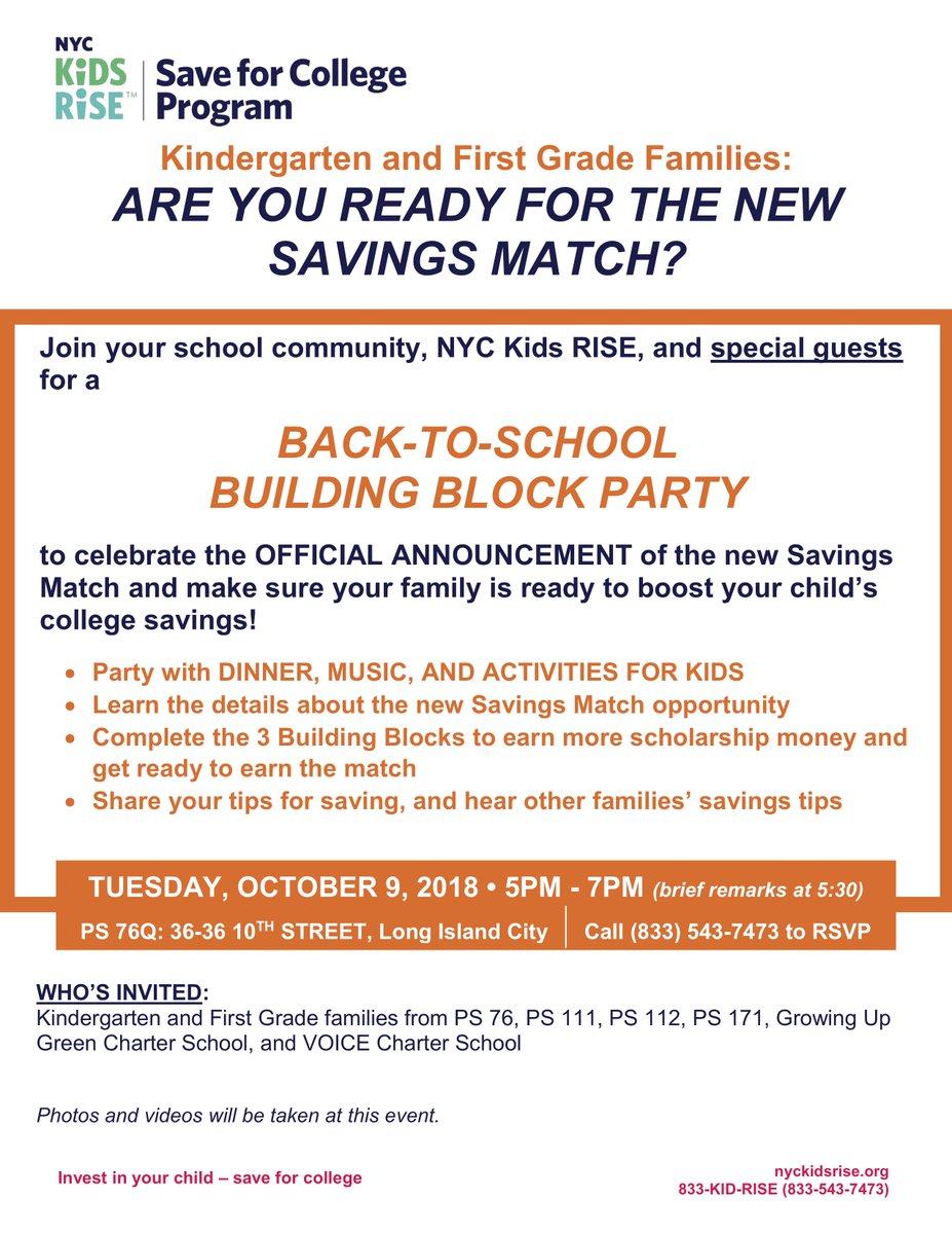 Celebrating Voices October 30th Your >> Ps76q William Hallet On Twitter Great News For Kindergarten And