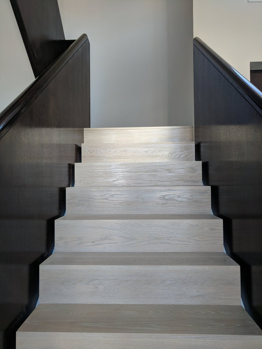 Staircase Finished With A Custom Made Stain And High Gloss Wet Look  Lacquer. #stairs #staircase #custommade #bespoke #joinery #painting #stain  ...
