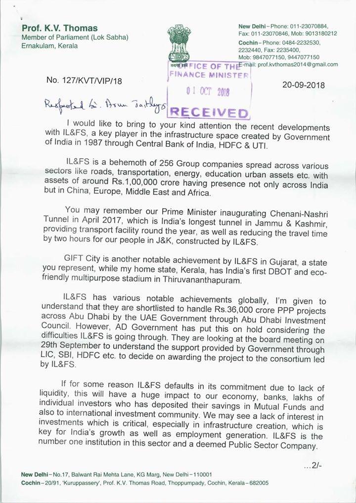 Congress national saboteur sabotage India economy letter