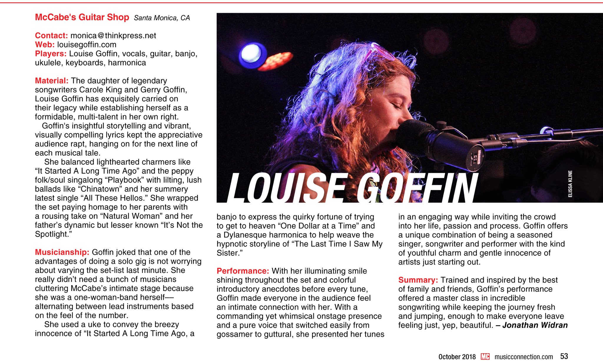 Reloaded twaddle – RT @LouiseGoffin: With a commanding yet whimsical onstage presence and a pure vo...