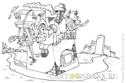 Карикатура Переезд