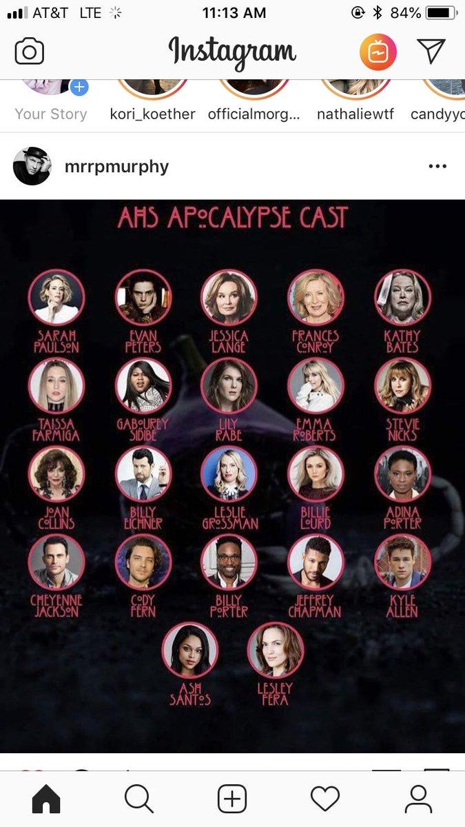 YASSSSSS #Ahs #apocalypse @AHSFX confirmed by Mr. Murphy himself. 😍😍