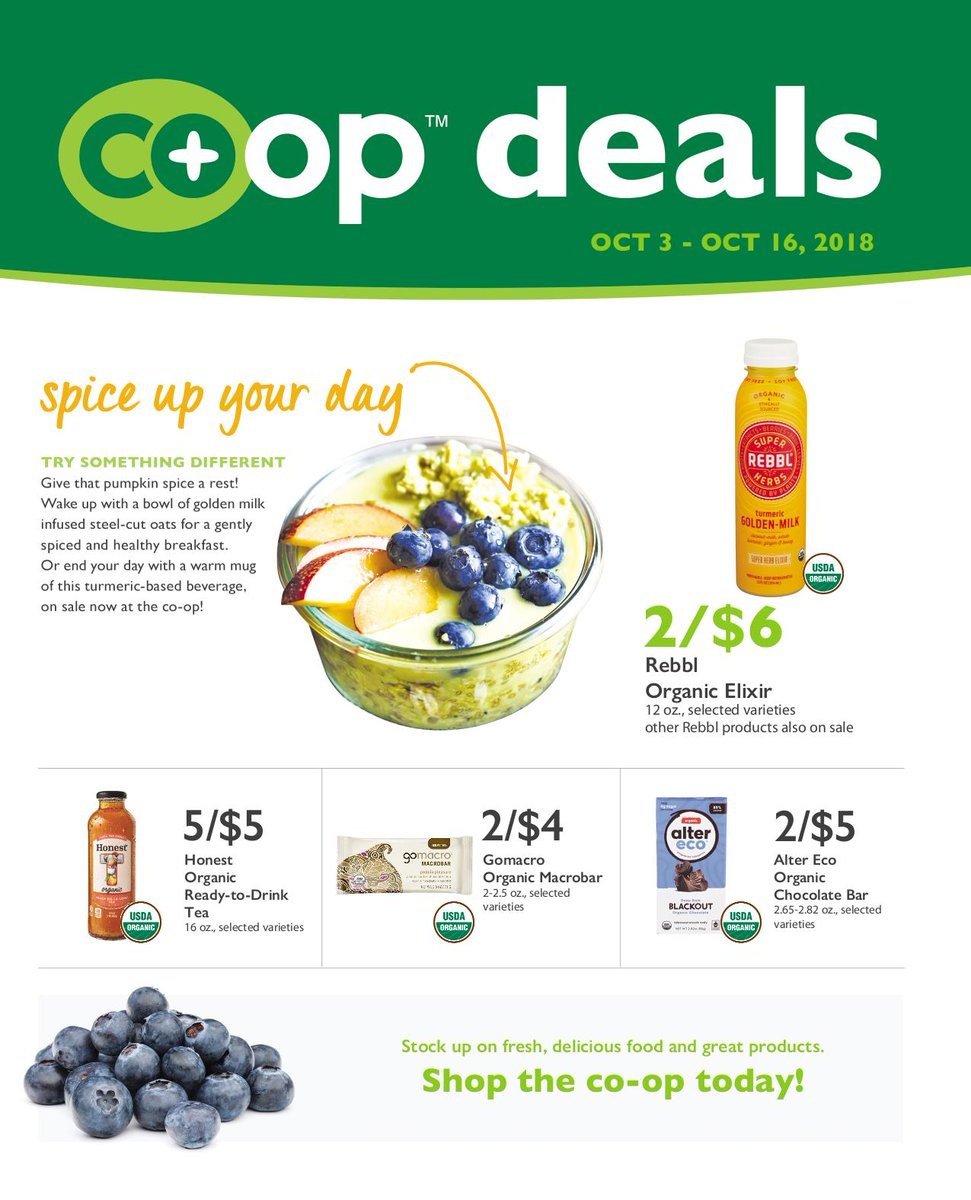 That means our new Co+op Deals flyer overlaps with our outgoing flyer! Shop the Co-op today for great savings! View full flyers on our website ...
