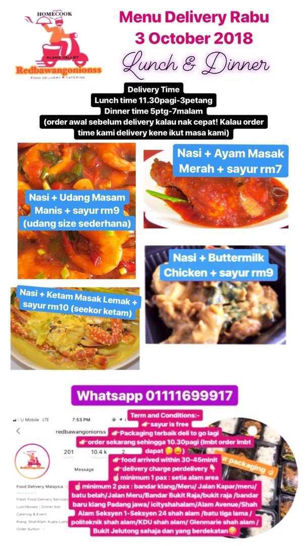 food delivery shah alam