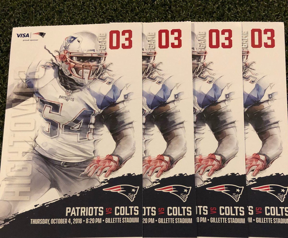 Looking for Thursday night plans?  RT & Comment for a chance to win these 4 #INDvsNE tickets! #Madden19