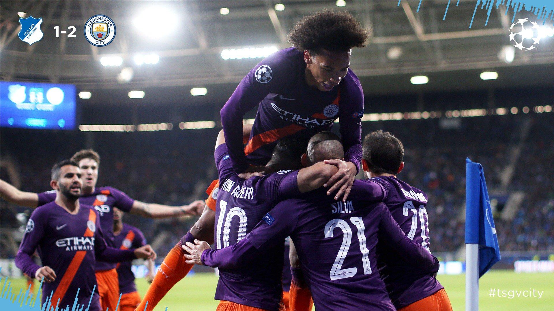 Chấm điểm kết quả Hoffenheim 1-2 Manchester City