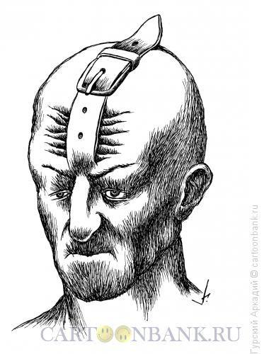 Карикатура Лоб и ремень