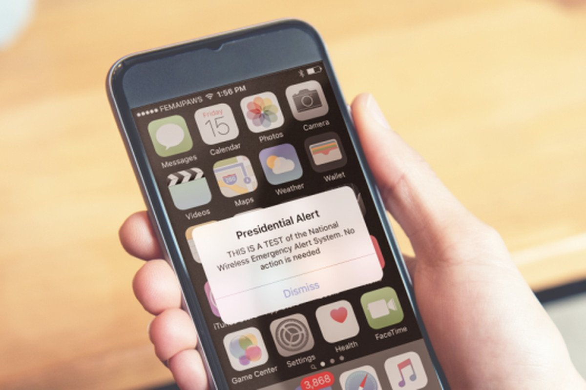 ALERT TEST: FEMA and FCC will conduct a test of the National Emergency Alert System today @ 2:18p. Loud tone & phone vibration... #heybangor