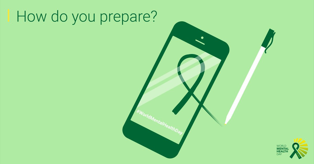 WorldMentalHealthDay 1 Make Wear A Green Ribbon 2 Draw Take Selfie 3 Follow Us On Social Media For More Inspiration Do You Have