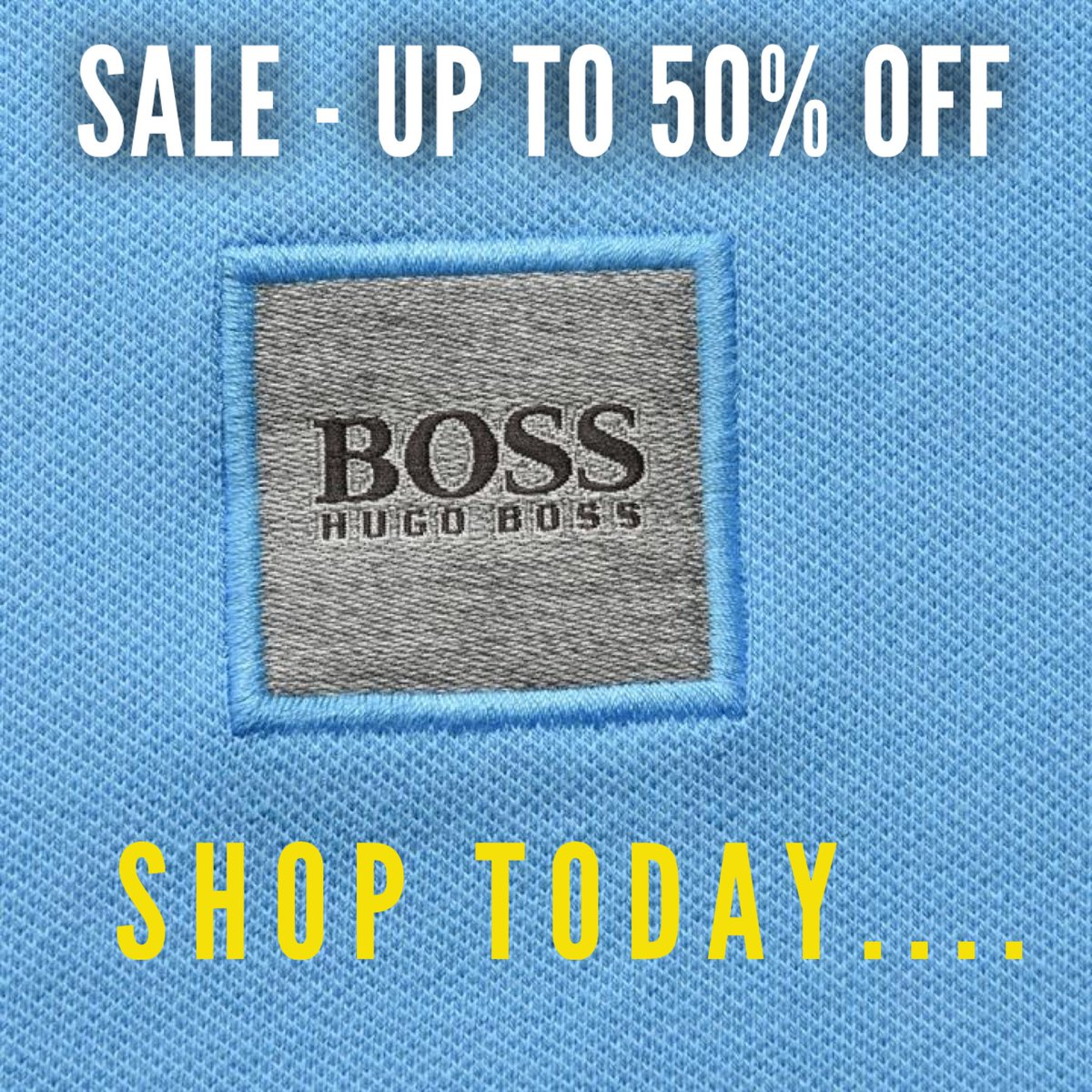 be6fc3c563 ... HUGO Boss now with up to 50% off...includes tees, polos, sweats, jackets  and more.. Shop here: https://bit.ly/2xRejP0 #hugoboss #hugo #boss #sale ...