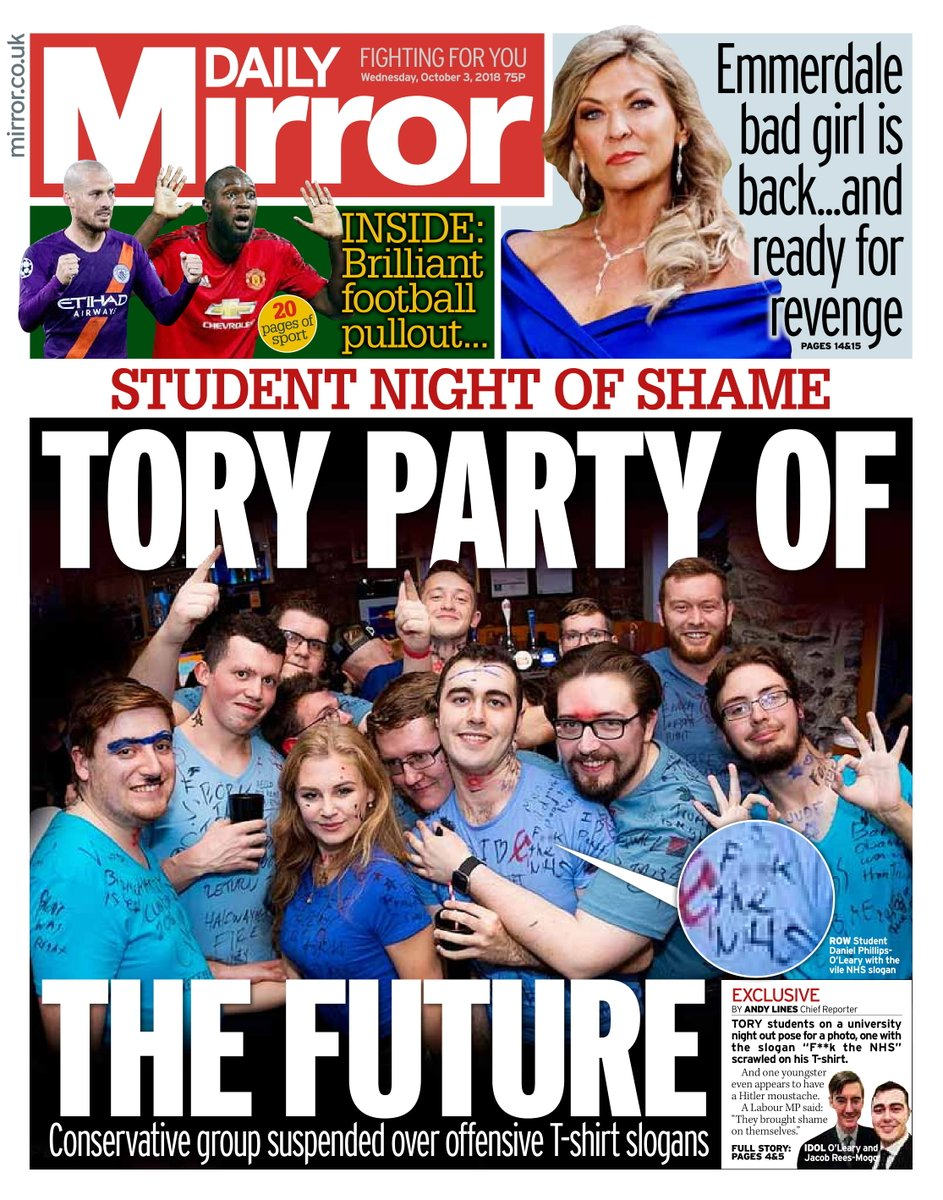 Tomorrow's front page: Tory party of the future #tomorrowspaperstoday  https://t.co/wS9zDZG3T7