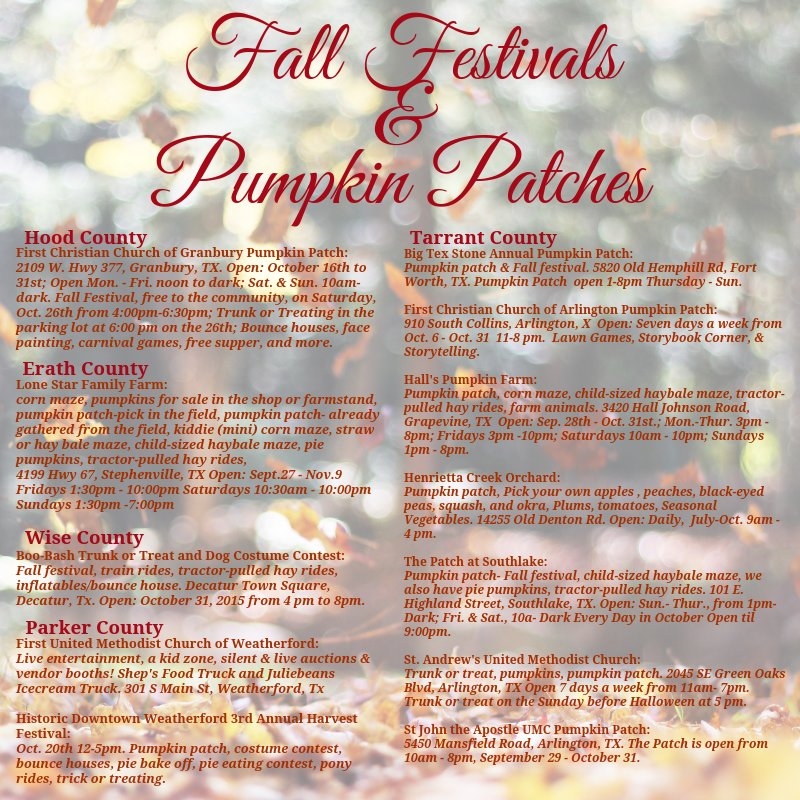 Huge list of pumpkin patches in dfw hustle mom repeat.