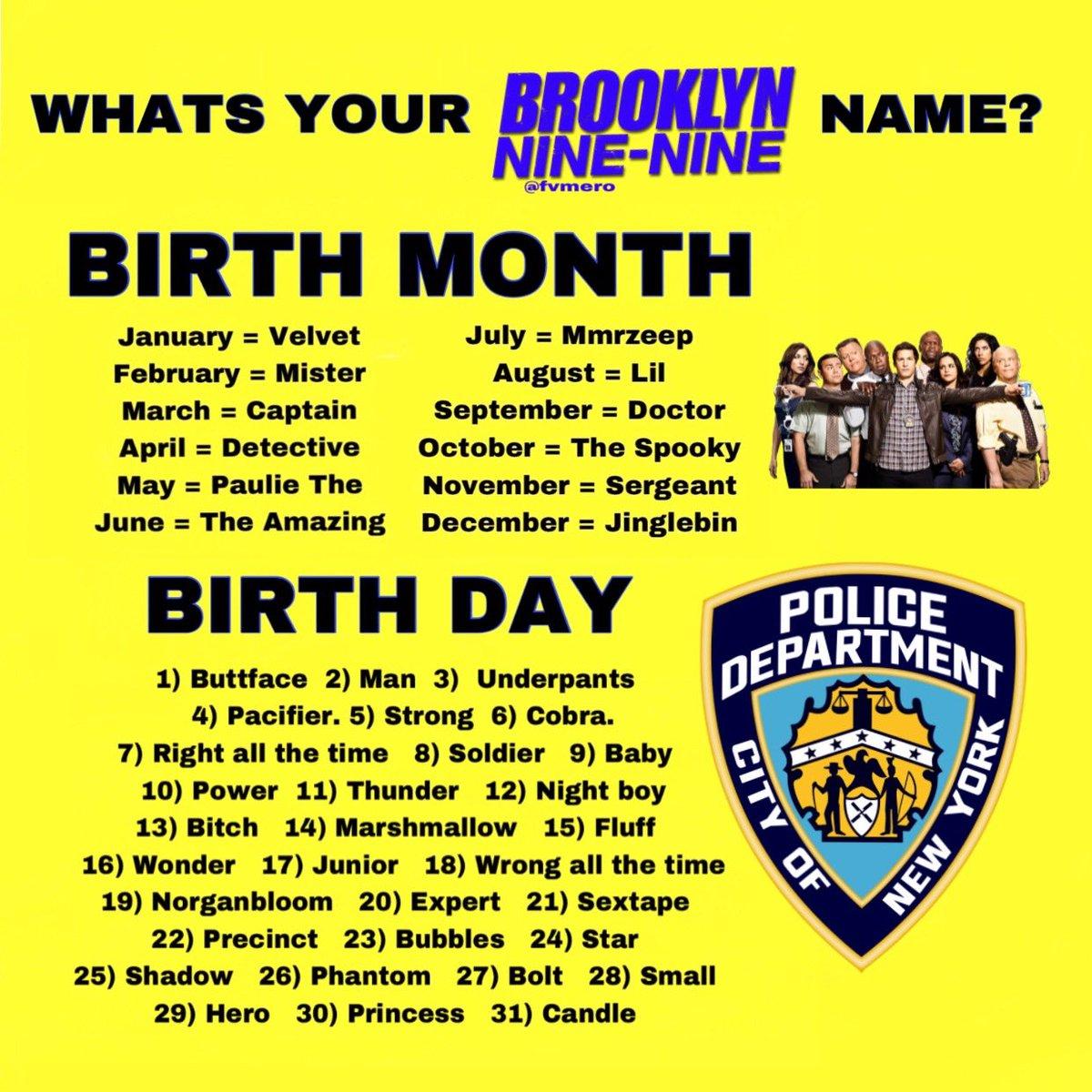 what's your Brooklyn Nine-Nine name?