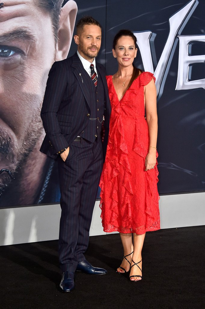 Tom Hardy wore #Gucci to the Hollywood premiere of #VENOM. https://t.co/JDpsVFMcgI #VenomMovie