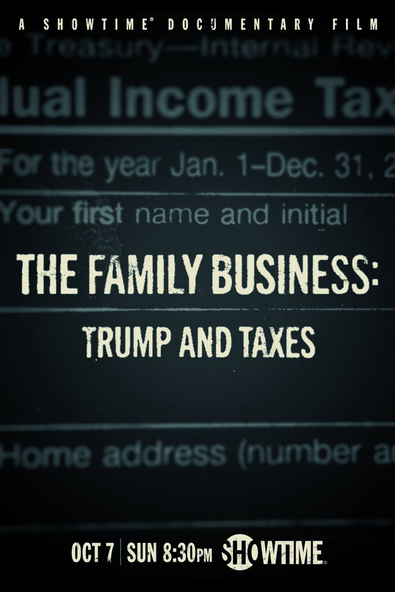 From the creators of #TheFourthEstate comes #TheFamilyBusiness: Trump and Taxes. Follow a team of @NYTimes investigative reporters through their intense efforts in uncovering information that led to this exclusive report.   Premieres this Sun at 8:30p on #Showtime.