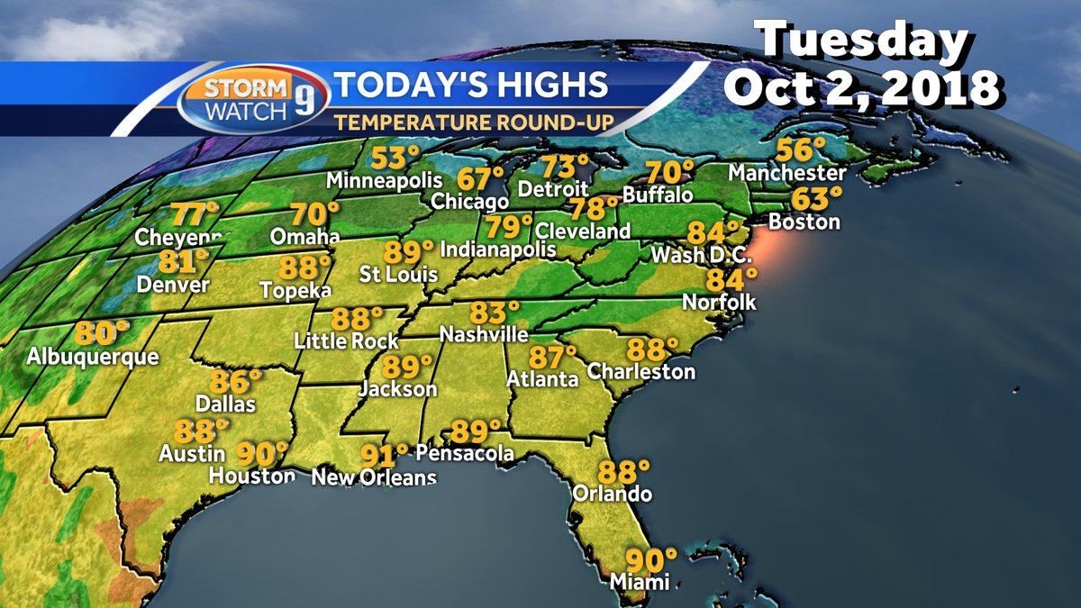 Wmur News 9 Weather On Twitter Today S Highs From Around Much Of