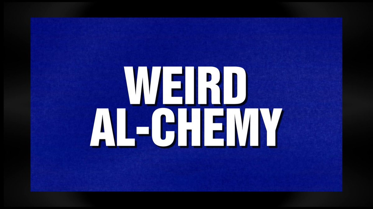 Wow! Extremely honored to have my very own category on #Jeopardy tonight!