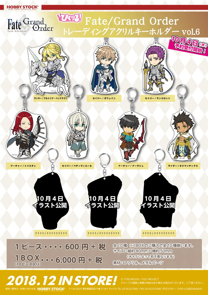 Pic-Lil Pikuriru Fate//Grand Order Trading Acrylic Keychain Vol 6 Lancer Altria
