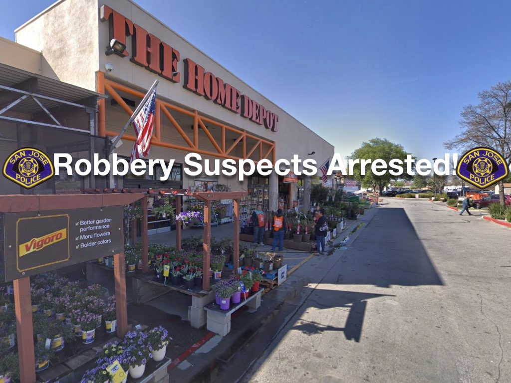 San Jose Police Dept On Twitter Robbery Suspects Arrested Friday