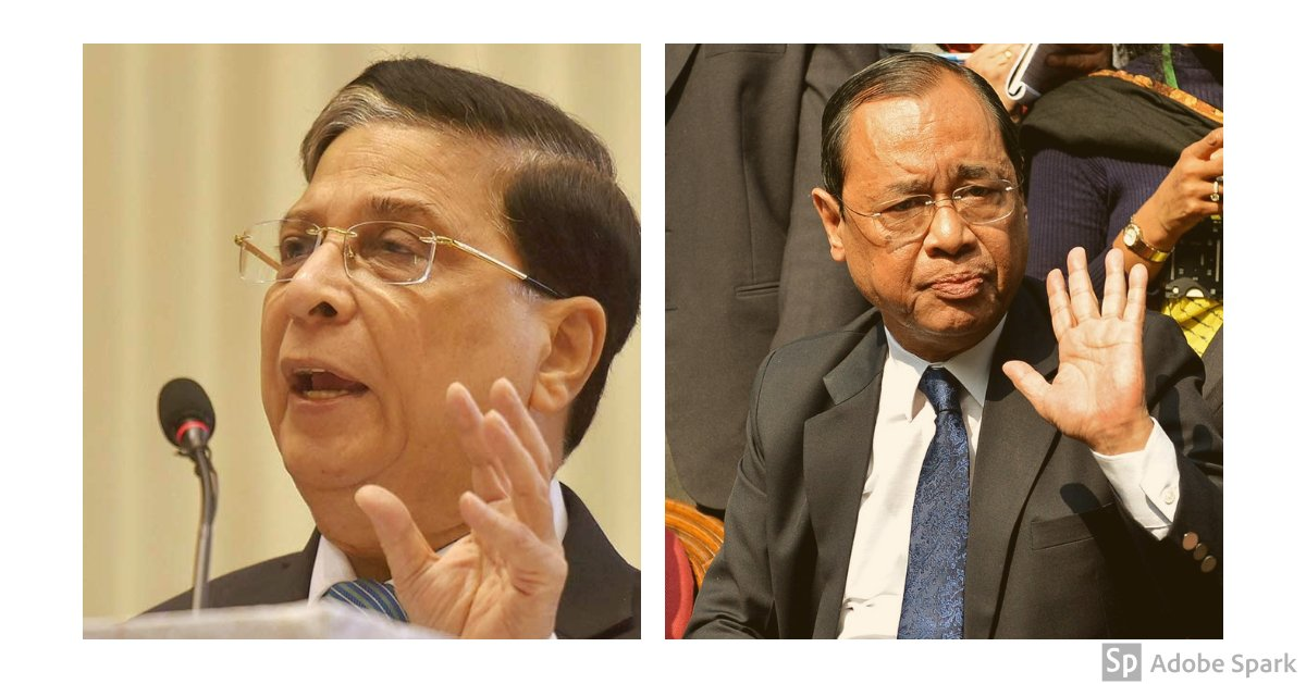 After long stints as judges, Justices #DipakMisra and #RanjanGogoi's personal savings less than a day's salary of several prominent lawyers    Follow #LIVE updates  http:// bit.ly/2Rm4D7B    <br>http://pic.twitter.com/pUoXWY0eoA