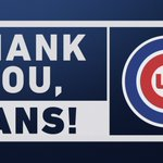 Thank you, #Cubs fans, for your continued support.   You pack the park every day, at home and on the road, and we are grateful to have the best fans in baseball.  See you in 2019.   #EverybodyIn