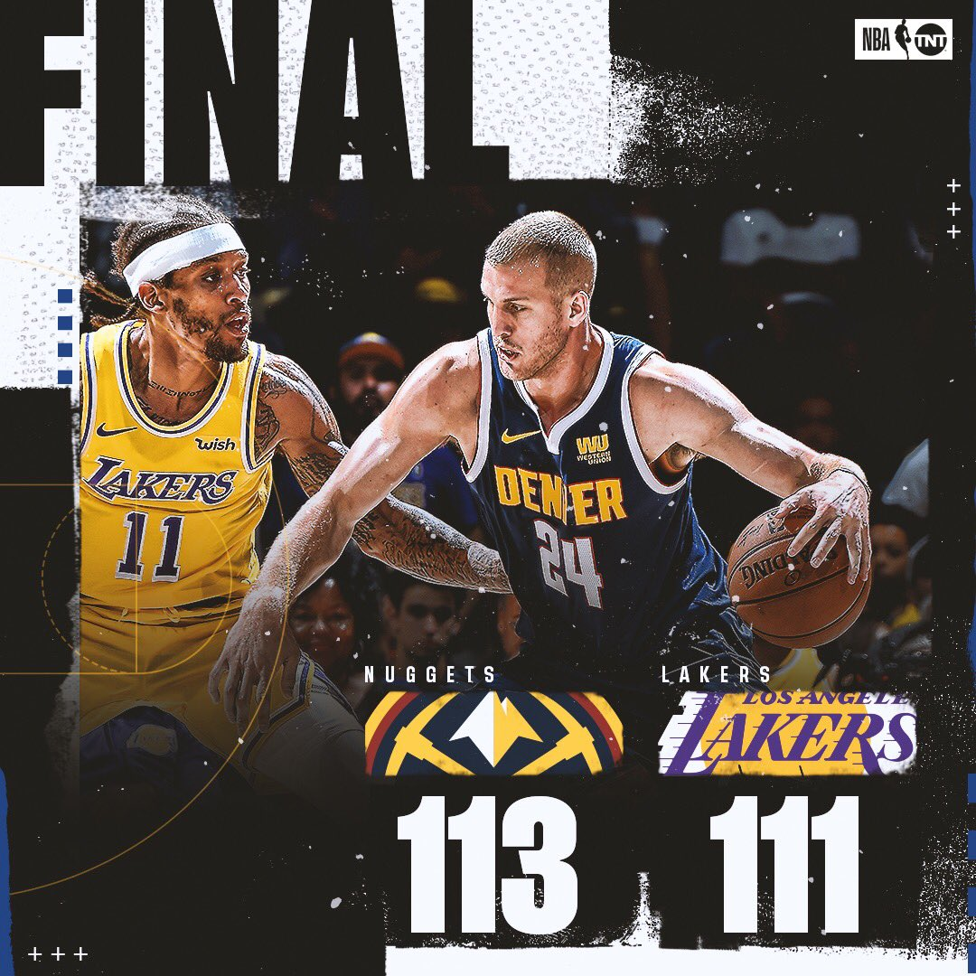 The @nuggets come back from 18 down to defeat the Lakers in LA! https://t.co/Do4sr3xkC0