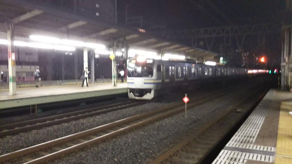 市川駅で人身事故が起きた現場の画像