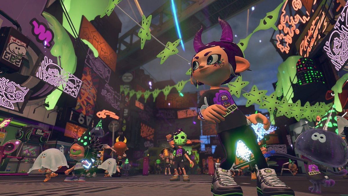 Image result for splatoon halloween twitter