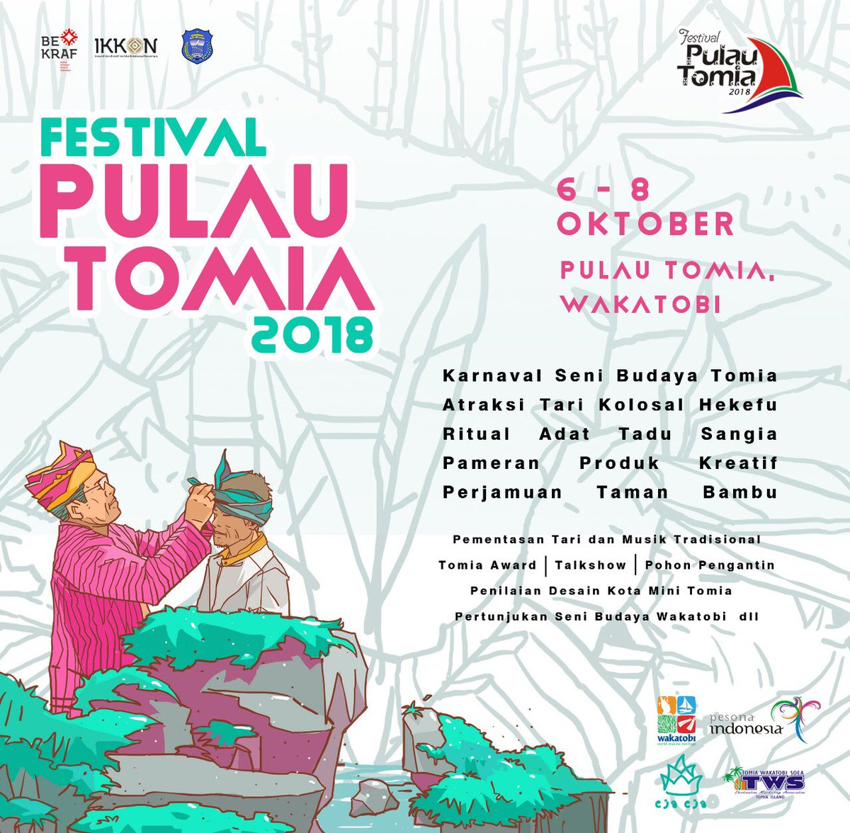 Badan Ekonomi Kreatif On Twitter Pulau Tomia 6 8 Okt 2017