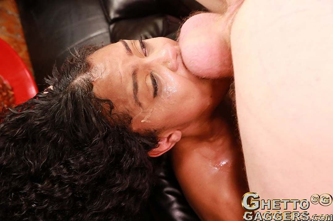 Curly Girl Dominican Beauty Getting Dick In Her Throat