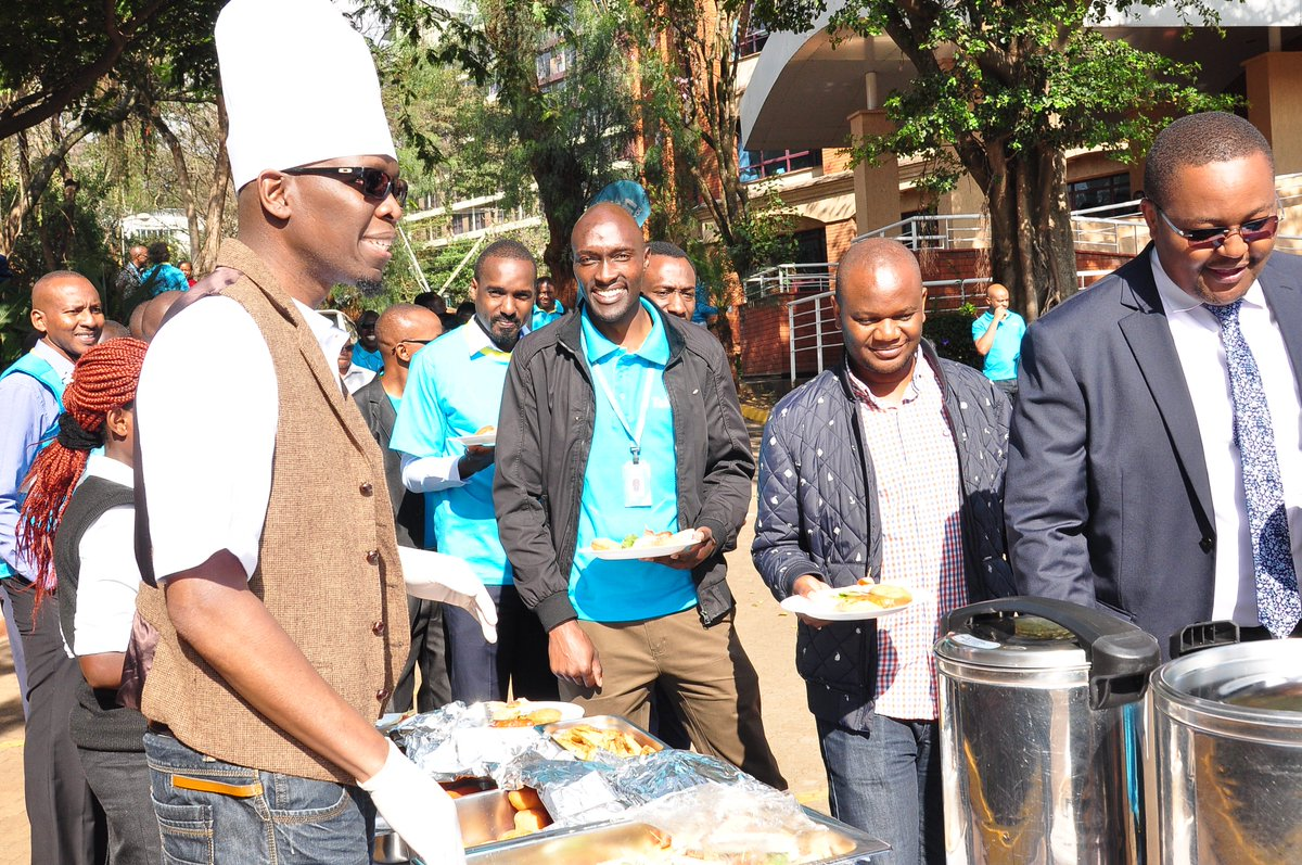 A splendid start to the morning where our management served the whole company breakfast! Happy #CustomerServiceWeek
