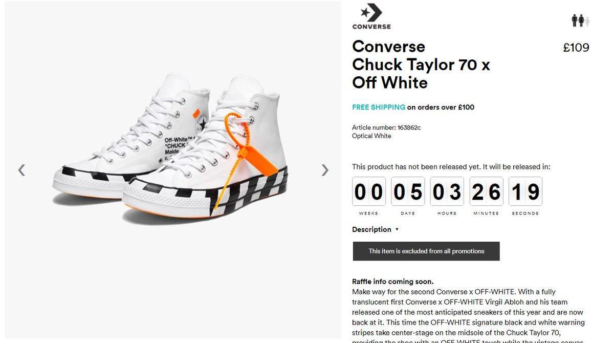 Off-White x Converse Chuck Taylor 70 Raffle coming soon at Sneakersnstuff  🚧 pic.twitter.com gGWZ63B1Qk d2e62f383