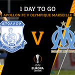 ☝ Day to go for #MatchDay 💪  #apollonfc #europaleague #uel #apollonmarseille #countdown @OM_Officiel