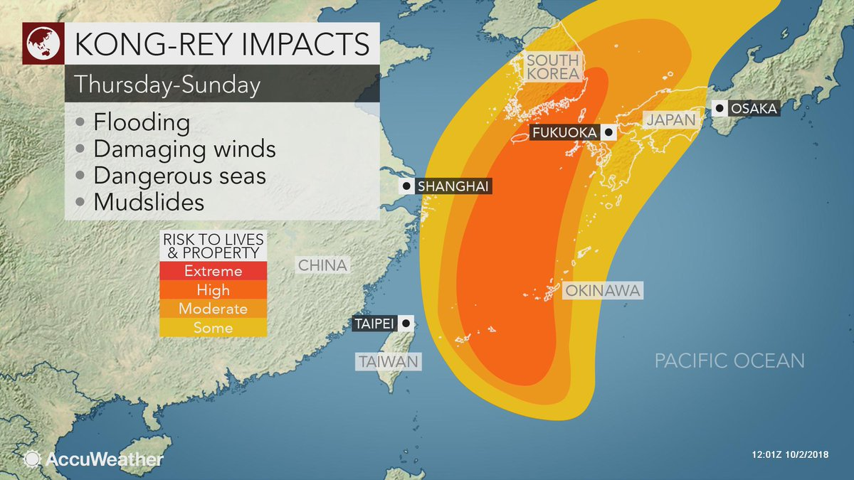 Otro supertifón rumbo a Asia: Japón, Corea del Sur y China, bajo la amenaza de Kong-rey DokzS6jX0AA4c_a