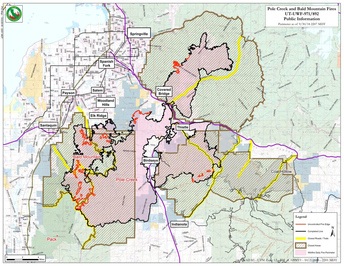 Current Fires In Montana Map.Utah Fire Info On Twitter 3 October 2018 Update And Map For Bald